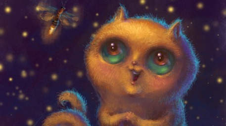 r169_457x256_14250_All_Aglow_2d_cartoon_illustration_kitten_cat_firefly_picture_image_digital_art.jpg