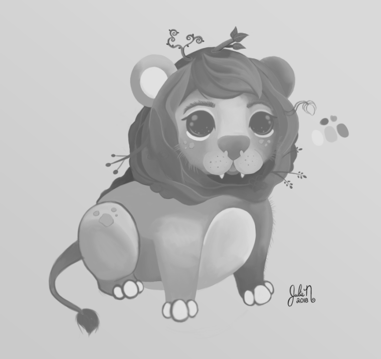 0_1519519550546_Leaf Lion Grayscale.png