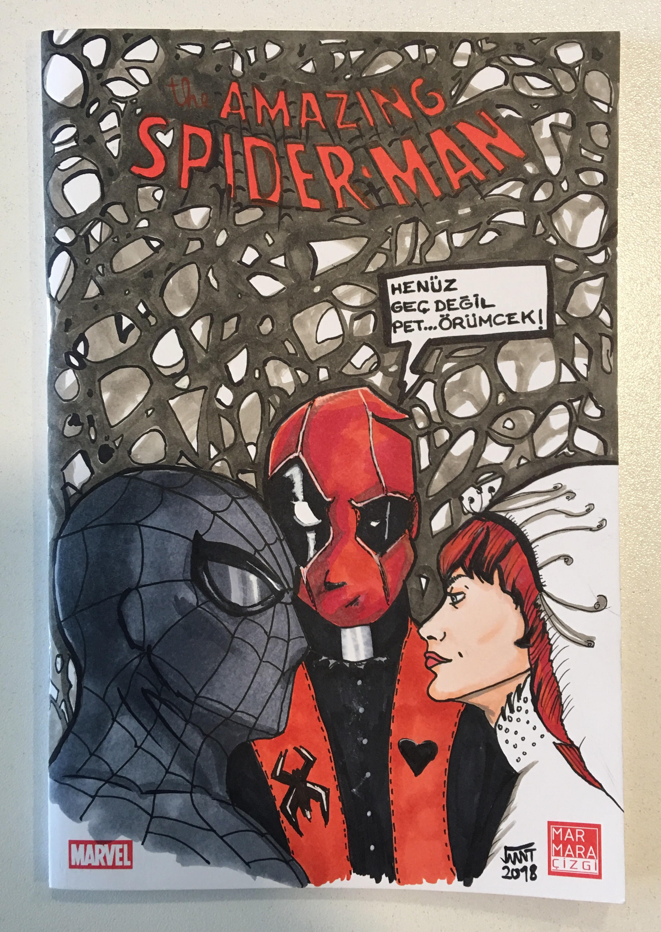 The Amazing Spider Man Annual 21 Blank Cover Art