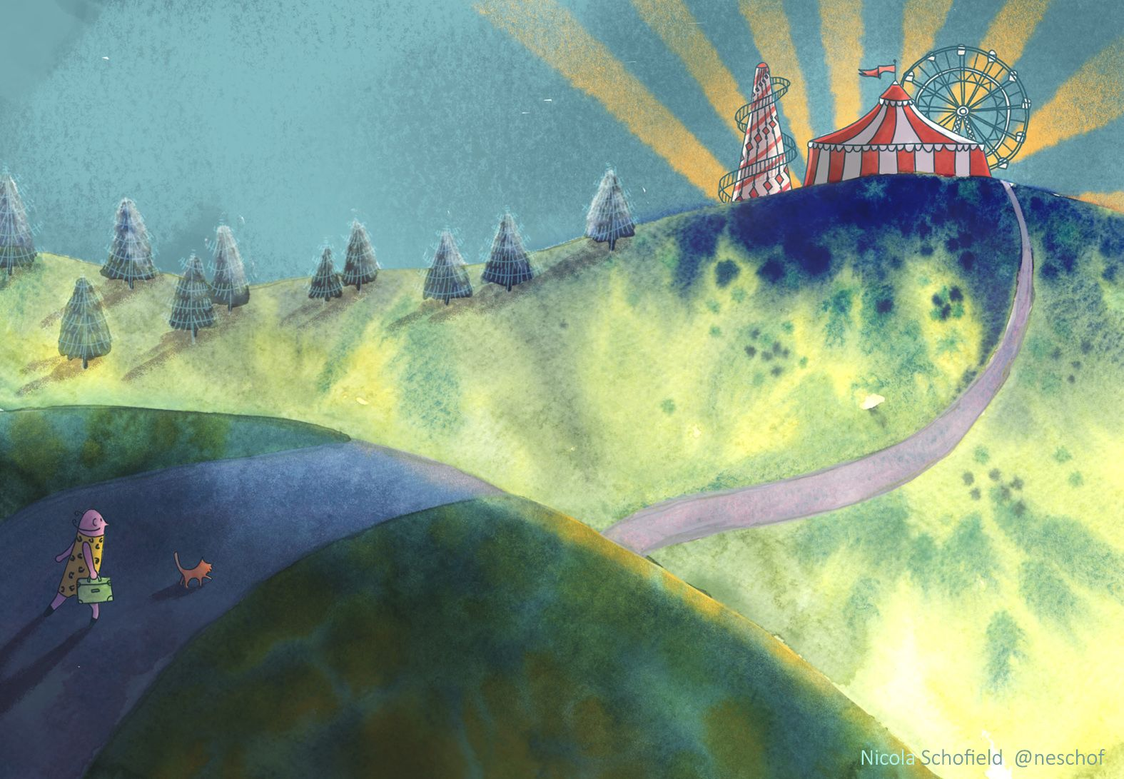 distant circus watercolour Nicola Schofield 2 low res.jpg
