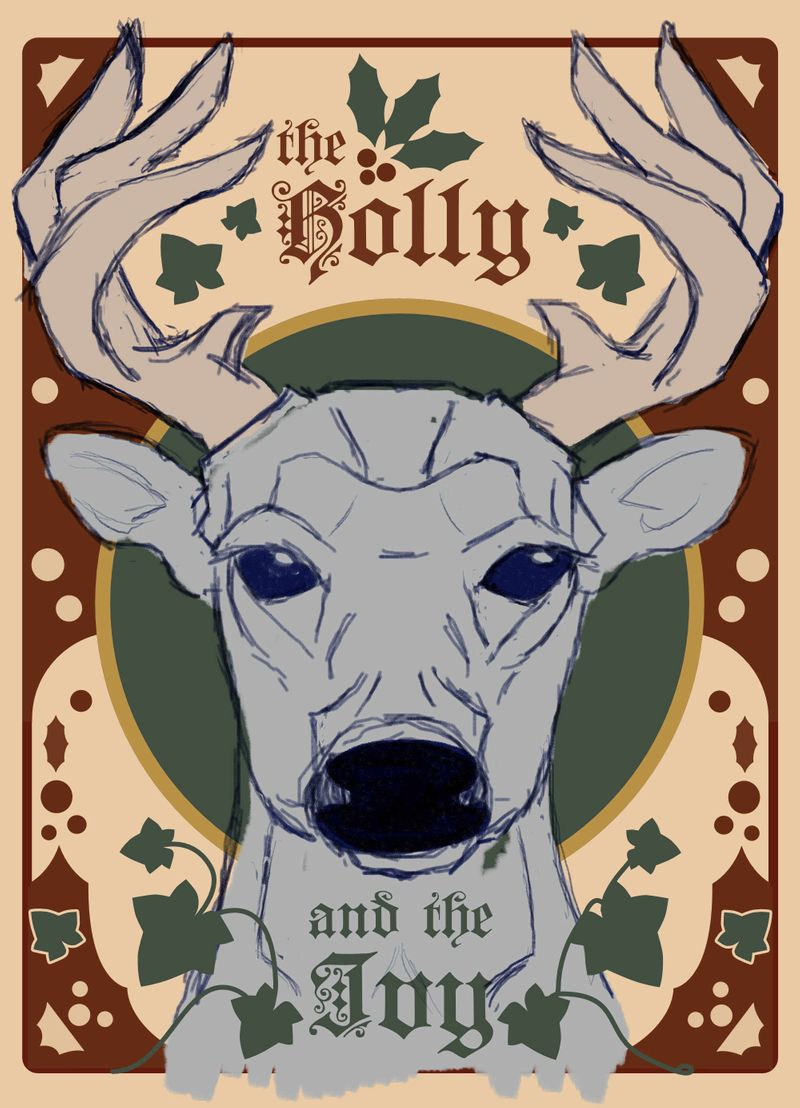 Holly & Ivy & White Deer Poster-WIP.jpg