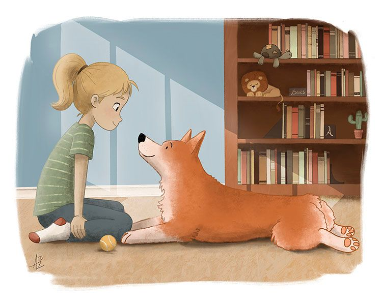 A Girl and her Corgi.jpg